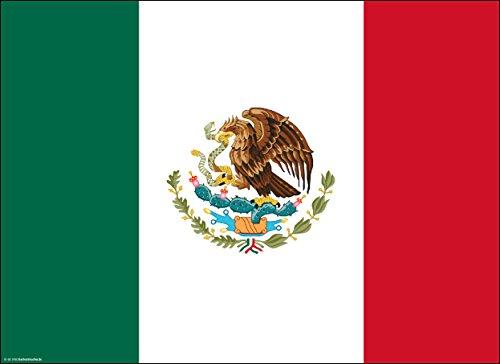 Tischsets | Platzsets - Mexiko Flagge - 10 Stück - hochwertige Tischdekoration 44 x 32 cm für Tische mit Mexican Style, Mottopartys & Fanabende