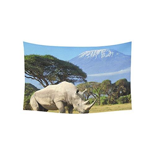 Zemivs Tapiz Rinoceronte Frente Kilimanjaro Montaña