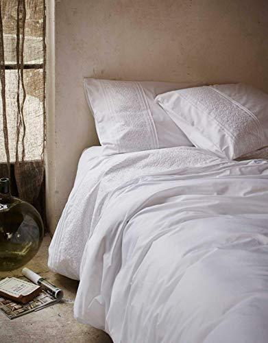 ESSENZA Bettwäsche Aylin Stickerei Baumwolle Perkal Weiß, 135x200 + 1x 80x80 cm