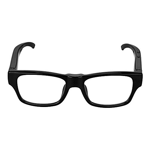 Mofek 1920 * 1080 HD Spy Camera Occhiali Telecamera Nascosta Glasses Sport Videocamere Spiare Pinhole Occhiali (nero)