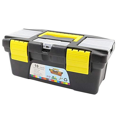 #N/D Instrumento multifuncional piezas herramienta de hardware doble capa caja de almacenamiento plástico ABS caja de herramientas electricista