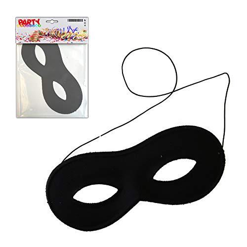 PARTY DISCOUNT Qualitäts-Maske Stoffbrille, schwarz