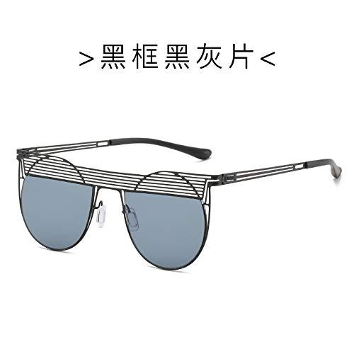 Gafas de Sol Gafas De Sol De Gran Tamaño con Montura Ahuecada para Mujer, Gafas De Sol Redondas con Forma De Ojo De Gato, Gafas De Sol Sexis Vintage P