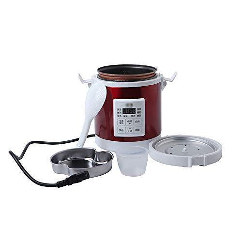 JDH 1,6 l Mini-Reiskocher, 12V / 24V-PKW-LKW-Reiselunchbox, Suppenbrei-Kochmaschine Lebensmittel-Dampfgarer Wärmer Schnellheiz-Lunchbox