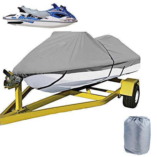 LDIW Cubierta de moto acuática para remolque, cubierta personal para embarcaciones acuáticas 210D, tela Oxford impermeable, a prueba de polvo, anti-UV, 420 x 300 cm, gris