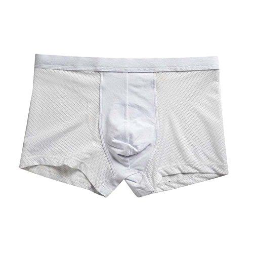 SoonerQuicker Boxershorts voor heren, sexy, dun, elegant, outdoor-onderbroek, slim fit, skinny broek voor heren, stretch, fitness, sport en kort