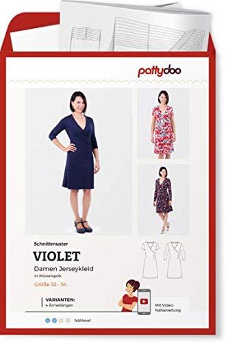 Schnittmuster Pattydoo Violet Jerseykleid Wickeloptik Damen Gr.32-54...