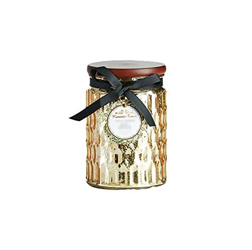 HFDJ Vela perfumada de Coco con Aceite Esencial, Dormitorio de Vidrio para calmar los Nervios, Vela sin Humo, Taza de Incienso, 100 h de Larga duración, Incienso Familiar