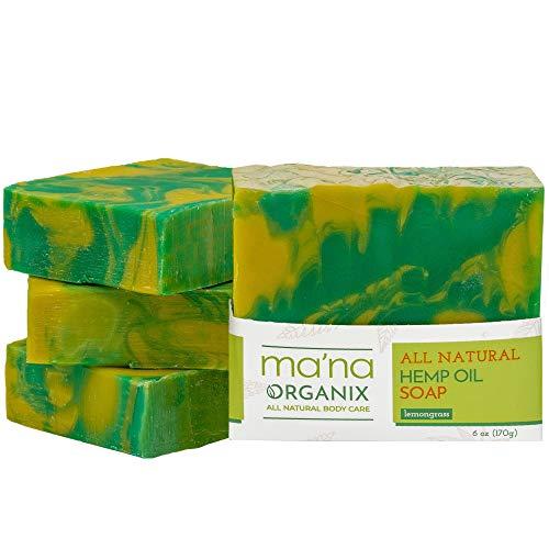 Ma'na Organix – All Natural Hemp Oil & Lemongrass Soap Bar with...