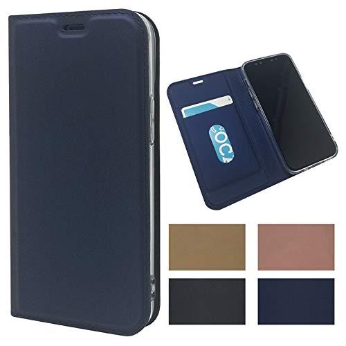Eastwave iPhone 12 Mini 手帳型 ケース アイフォン iPhone 12mini 携帯カバー iphone12 mini ケース PUレザー 内蔵するTPUソフトケース カード収納 内蔵マグネット 横置きスタンド機能 薄型 軽量 4色 ブルー