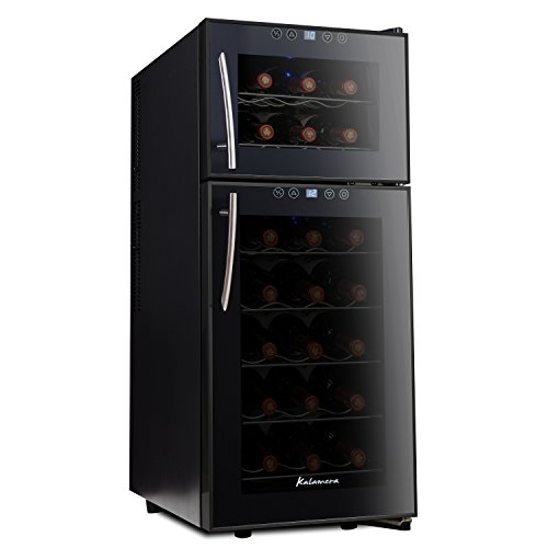 Kalamera 21 Bottle Dual Zone Freestanding Thermal Wine Fridge