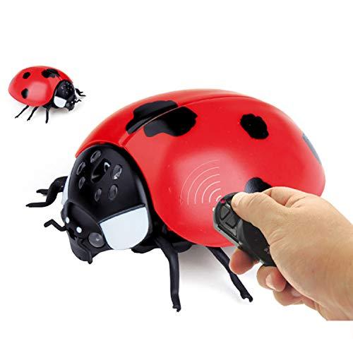 億騰 リモコン昆虫 擬似昆虫 てんとう虫/カメ/サソリ/カブトムシ/かまきり/ミツバチ リモコン電子ペット リモコン付き クリエイティブ 電動おもちゃ いたずら玩具 プレゼント (てんとう虫)