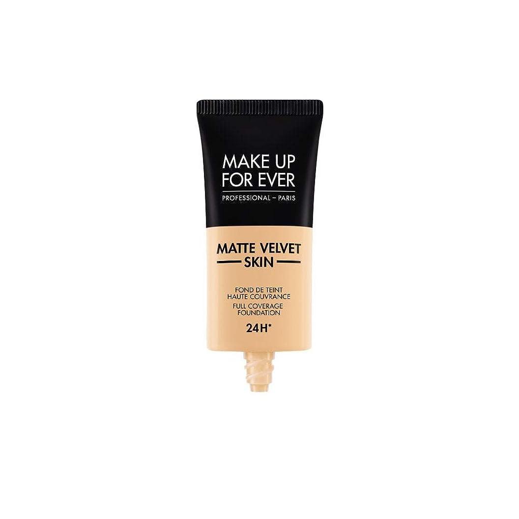 枠インク影のあるメイクアップフォーエバー Matte Velvet Skin Full Coverage Foundation - # Y235 (Ivory Beige) 30ml/1oz並行輸入品