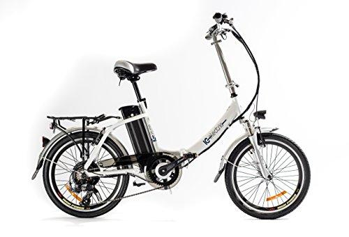 Lobito Ice Plume,Bicicleta Eléctrica Plegable, Blanco, Unisex
