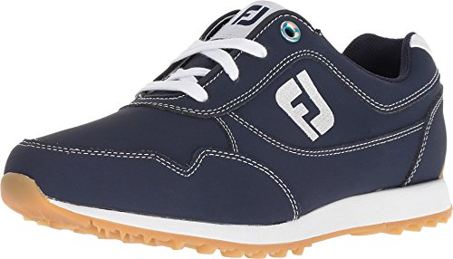 FootJoy Women's Sport Retro Golf Shoes Blue 6 W, Navy, US