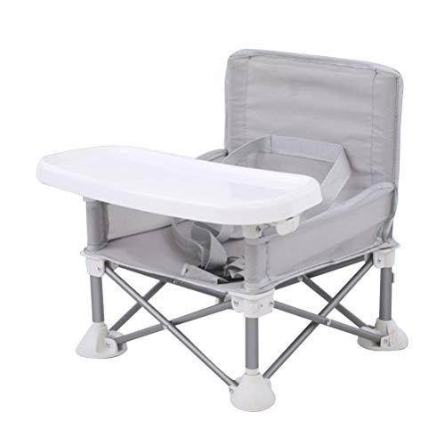 Aluminium-Baby-Esszimmerstuhl, Reise-Sitzerhöhung mit Tablett für Baby, tragbarer Klappstuhl, Kinderesszimmerstuhl zum...