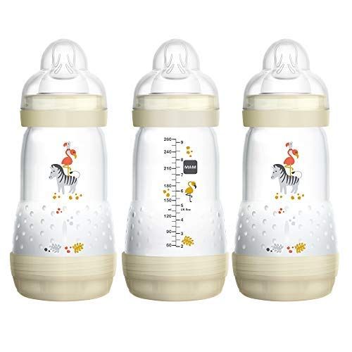 top 10 anti colic bottles MAM Easy Start Anticolic Bottle, 3 Pieces (9 oz), Essentials, Medium Flow Bottle, …