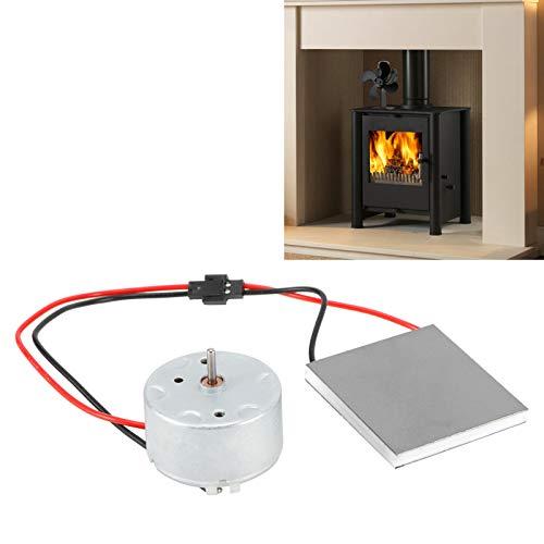 Hoja de generador de ventilador de chimenea, juego de accesorios de motor de generador eléctrico de ventilador de chimenea, kit de ventilador de ventilador de chimenea de repuesto para ventilador de c