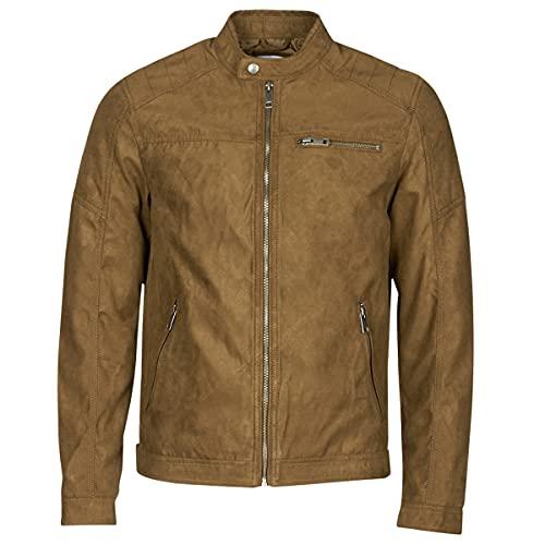 JACK & JONES JJEROCKY Jacket Noos Giacca, Marrone (Cognac), XL Uomo