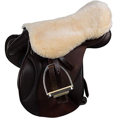 Netproshop Paarden zadelstoelbekleding van lamsvel met elastische klittenbandsluiting