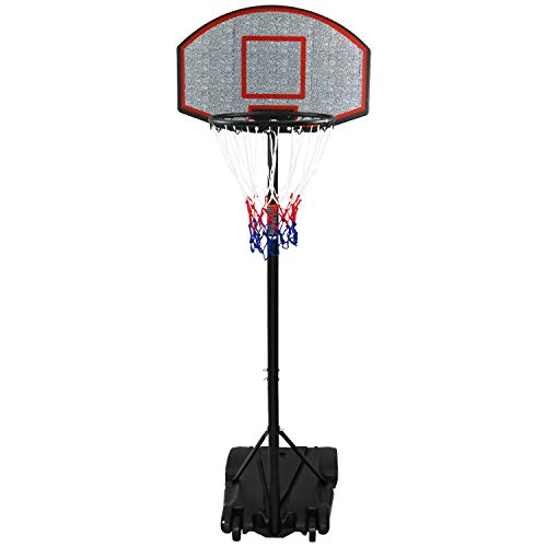 Oypla Professional Kids Adjustable Portable Basketball Net Set 1.7m – 2.1m