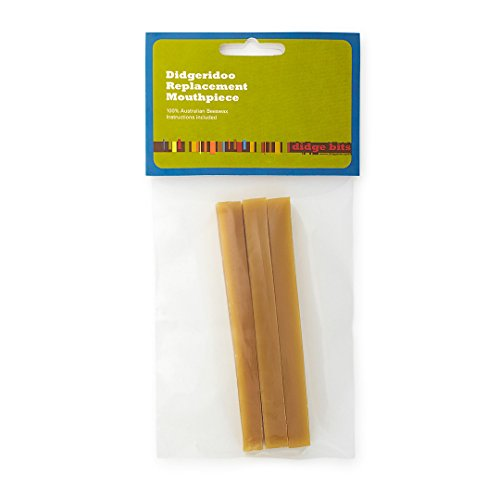 100% PURE Australian Beeswax - For An Authentic Didgeridoo Mouthpiece - Fits All Size Didgeridoos Includes 3 Sticks of Beeswax with Natural Beeswax Color - Depending on the size of the mouthpiece of your didgeridoo, you can typically make between 2 -...