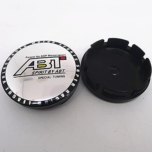 LSQJNDM para ABT Car Wheel Center Hub Cap Cubiertas Emblem Badge Hub Auto Styling Accesorios 4pcs 56mm