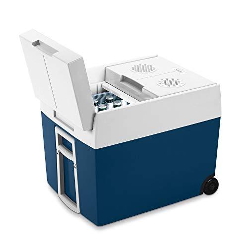 Mobicool MT48W AC/DC - elektrische Kühlbox mit Rollen passend für eine komplette Getränkekiste/ Bierkiste, 48 Liter, 12 V und 230 V für Auto, Lkw und Steckdose, A++