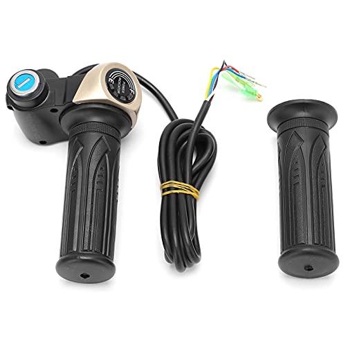 Yivibe Empuñadura De Acelerador Giratoria para Scooter Eléctrico, Empuñadura De Acelerador De Bicicleta Eléctrica A Prueba De Agua con Pantalla LED Material De Goma para Scooter Eléctrico para
