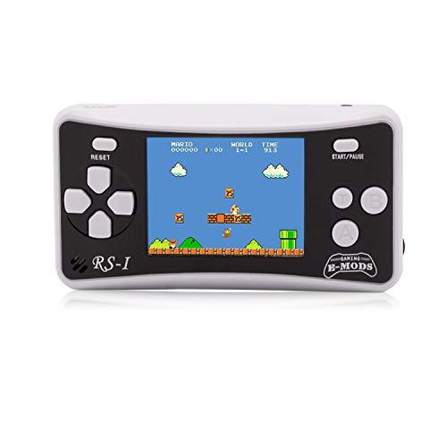 E-Wor Handheld-Konsole, 6,4cm (2,5 Zoll) LCD, 8-Bit, Retro, 162x Videospiele,Blau-Weiß