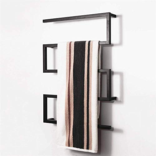 SHDS Toallero eléctrico Negro Calentador de Toallas eléctrico toallero eléctrico doméstico en...
