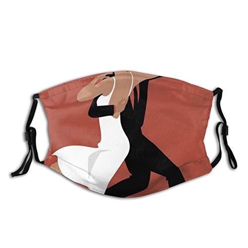 FULIYA Mascarillas faciales lavables reutilizables para mujeres y hombres, pareja latina realizando tango sala de baile argentina romántica pasión, 12 x 18 cm, tamaño mediano, unisex adulto