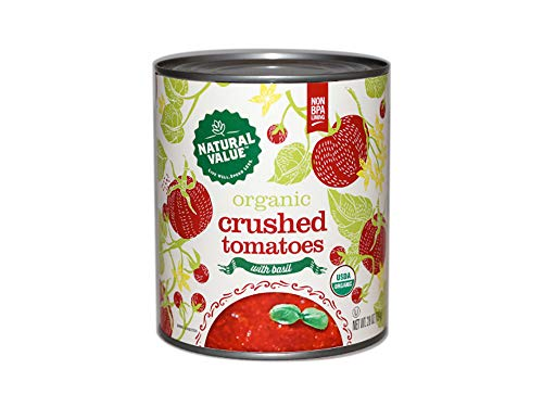 Natural Value 28-oz. Organic Crushed Tomatoes w/Basil / 12-ct. case