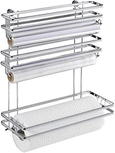 Wenko 54831100 Rollenhalter Trio Style-Wandrollenhalter, verchromtes Metal, 32 x 33 x 13 cm, silber glänzend
