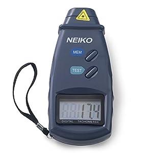 NEIKO 20713A Digital Tachometer | 2.5 - 99,999 RPM | Non-Contact Laser | Pocket Rotation Gauge | Motor, Machine, Chainsaw, Lathes Measurement Meter