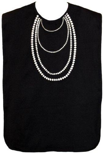 Waterproof Adult Bib, Black Tuxedo Brand Name by Frenchie Mini Couture