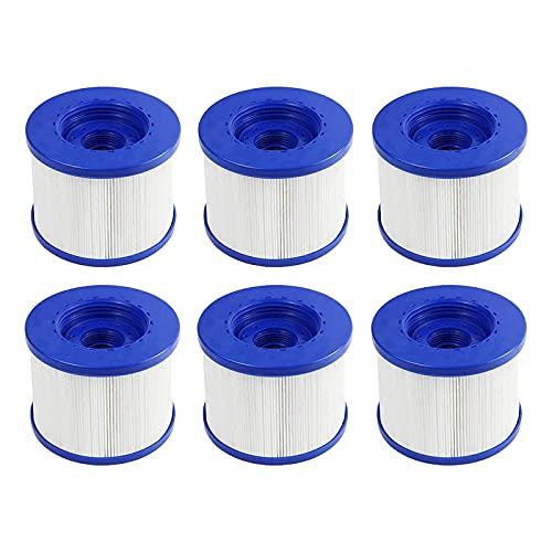 Denkmsd - Cartuchos filtrantes para Spa CosySpa, filtro para Jacuzzi Spa hinchable, cartucho de filtro estándar y atornillado, para Aqua Costway-todas las estaciones (6 unidades)
