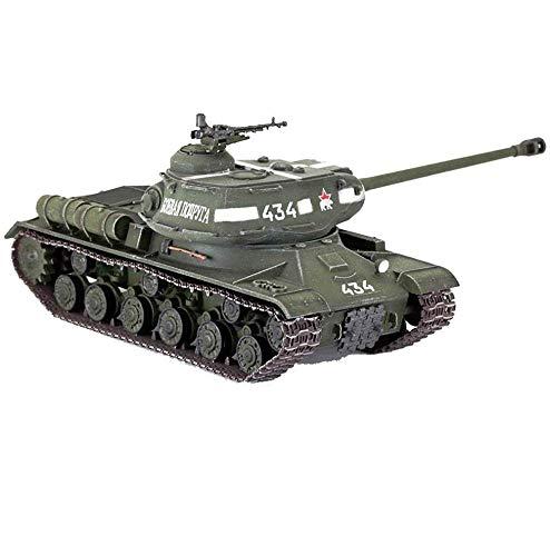 JHSHENGSHI 1/72 Tanque Modelo WWII Alemania JS2 Stalin 2 Tanque, Juguetes y Regalos Militares, 5.3 Pulgadas y Tiempos; 1,9 Pulgadas