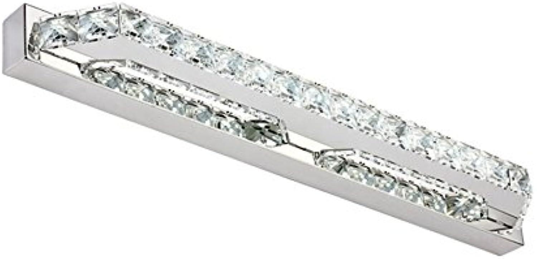 HOHE SHOP- Art und Weise einfache LED-transparente Kristallspiegel-Scheinwerfer (Farbe   Wei-14w-(56cm))