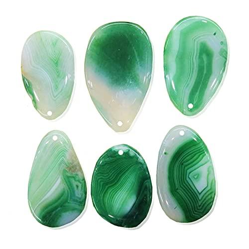 CHHNGPON Piedra Rugosa Colgantes Naturales de Encanto de ónix múltiple Colgante de Cuarzo de Piedra de Cristal Natural Irregular Bricolaje Collares en Forma (Metal Color : 01)
