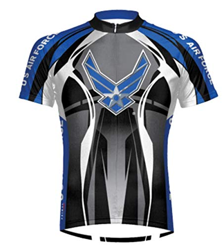 Primal Wear Men's Air Force Stealth Short Sleeve Cycling Jersey - AFT1J20M (Air Force Stealth - L)