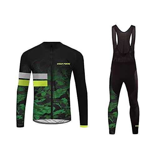 UGLY FROG Newest Designs Termico Invernale Body Uomini Sport Magliette+Long Bib Pantaloni Ciclismo Maglia Bicicletta Bici Abbigliamento Triathlon Wear