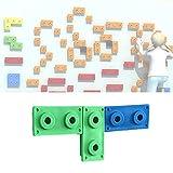 Presas De Escalada para Niños Set De Iniciación: 3 Rocas De Plástico con Fijaciones Metálicas para Muro De Escalada Variadas para Crear Su Propia Pared De Escalar