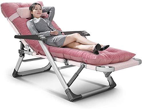 Chaises classiques Lounge Sun Lounger/Chairs Zero Gravity pliant rembourré, Recliners Heavy Duty Personnes Sun Transats, Garden Beach Lounge Chair avec coussin épais [mise à niveau]