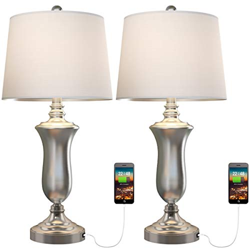 Table Lamp Set of 2 for Living Room Bedroom