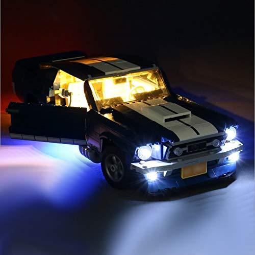 Daniko Juego de luces LED compatibles con Lego Ford Mustang modelo 10265 (modelo no incluido).