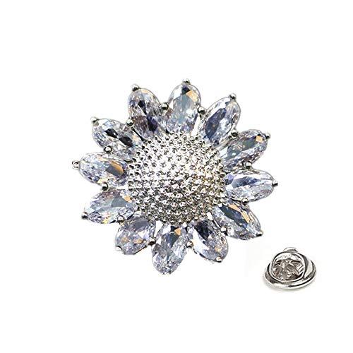 QYY Elegant Style Light Proof Clasp Mini Zircon Dart Shirt Collar pin Brooch