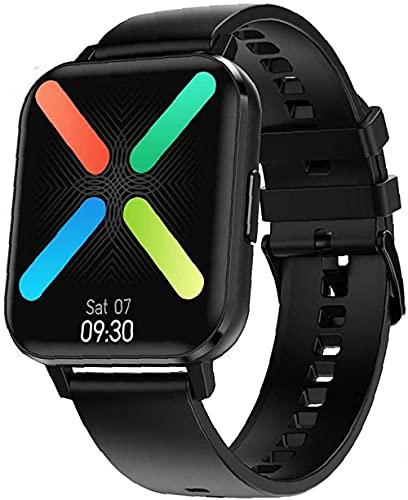 Smart Watch Fitness Tracker Smart Band Pulsera de prueba de frecuencia cardíaca deportiva Smartwatch para hombres y mujeres-silicona negra