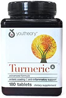 YouTheory Turmeric Advanced 180 Tablets by Turmeric Advanced