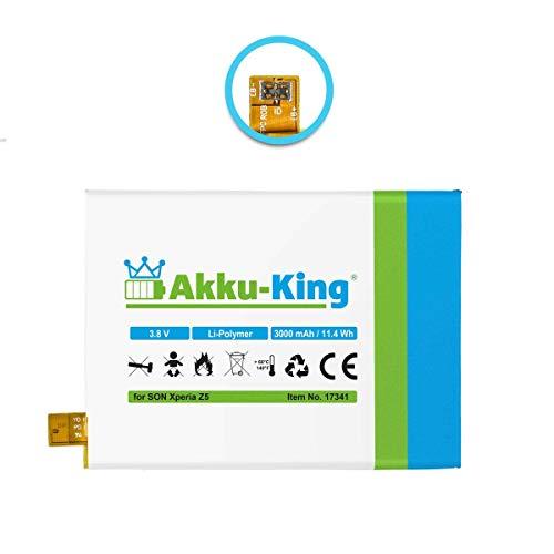 Akku-King Akku kompatibel mit Sony LIS1593ERPC - Li-Polymer 3100mAh - für Xperia Z5, Z5 Dual, E6653, E6683